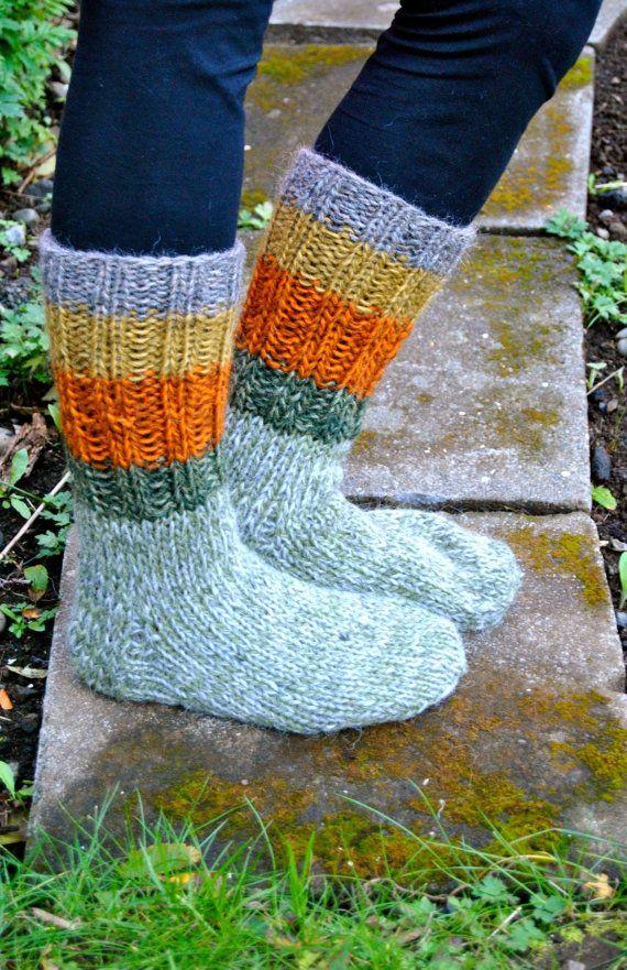 Icelandic Woolen Socks  Handmade with 100% Icelandic Wool by IcelandicKnitsbyAnna
