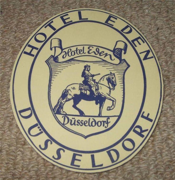 HOTEL EDEN - DUSSELDORF - VINTAGE HOTEL LUGGAGE LABEL