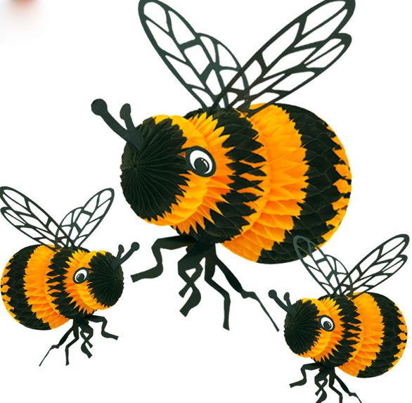 Tissue Paper Bees These Would Look Great Hanging Over My Reading Corner In Bee ThemeParty SuppliesBee