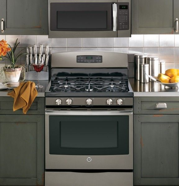awesome Slate Kitchen Appliance Package #3: Ge Slate Appliance Package With New GE JGB690EEFES 30 Wide Freestanding Gas  Convection Range With Ideas
