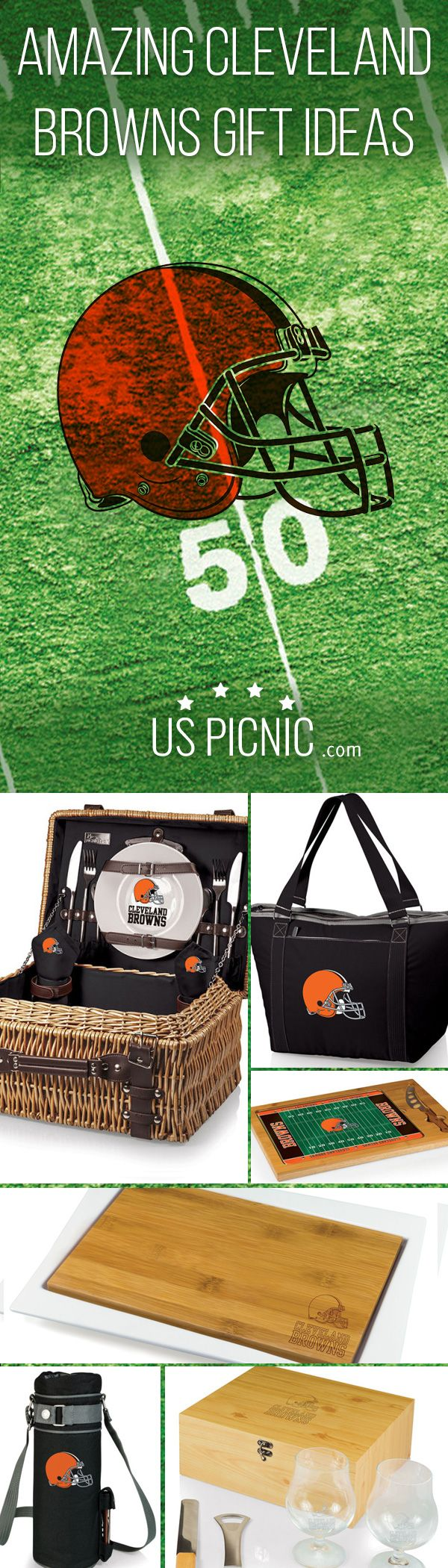 Get Ready for #NFL #Football Entertaining. Get Amazing Cleveland Browns Gift Ideas from USPicnic.com https://www.uspicnic.com/product-category/licensed-products/?utm_source=pinterest&utm_medium=pin&utm_campaign=nflpinterest #clevelandbrowns #wine #picnics #cuttingboards #picnicbaskets