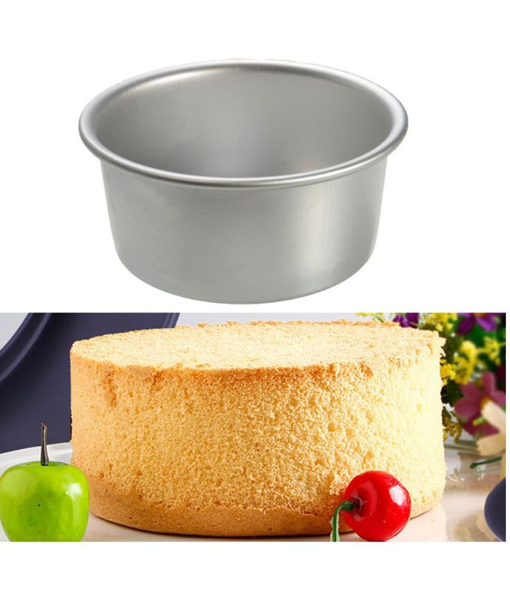 Generic High Quality Protable Size 4 inch Round Cake Muffin Pan Tin Baking Bread Mould Tools Fr Birthday Party (Metal)