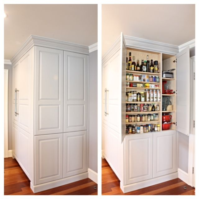 Kitchen Pantry Large Custom Pantry 12 Deep Matching Paint Cabinets Kitchen Pantry 39 S And