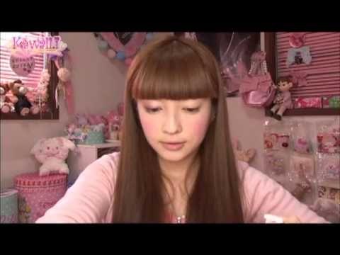 Kawaii Tutorial japanese make up - YouTube. Simple and sweet look!