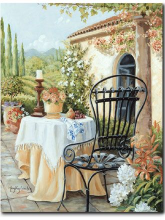 Her Quiet Place - Her Quiet Place Romantic Print ( Giclee ) by Mary Kay Crowley from Cottages and Gardens