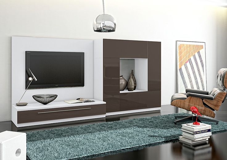 Mueble de tv moderno ponce material dm densidad media for Mueble tv moderno