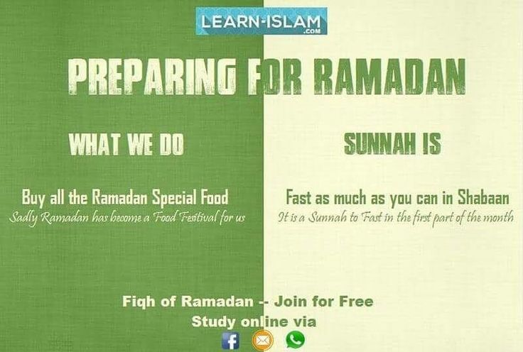 Preparing/Shopping for #Ramadan? Sunnah is to prepare by #Fasting in Shabaan FIQH OF RAMADAN