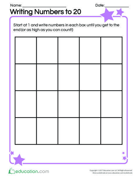 Writing Numbers to 20 | 1st grade | Writing numbers, Kindergarten ...