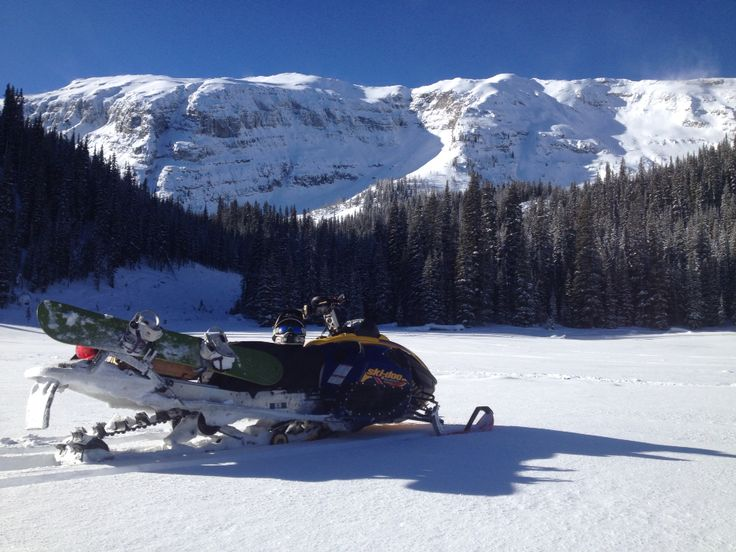 Mear Lake at Koko Claims, Elk Valley British Columbia. What a beautiful bluebird day! January 24 2014