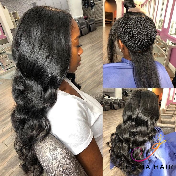 Gorgeous Sew in. Slay. Do you like it? Get your natural wavy hair.