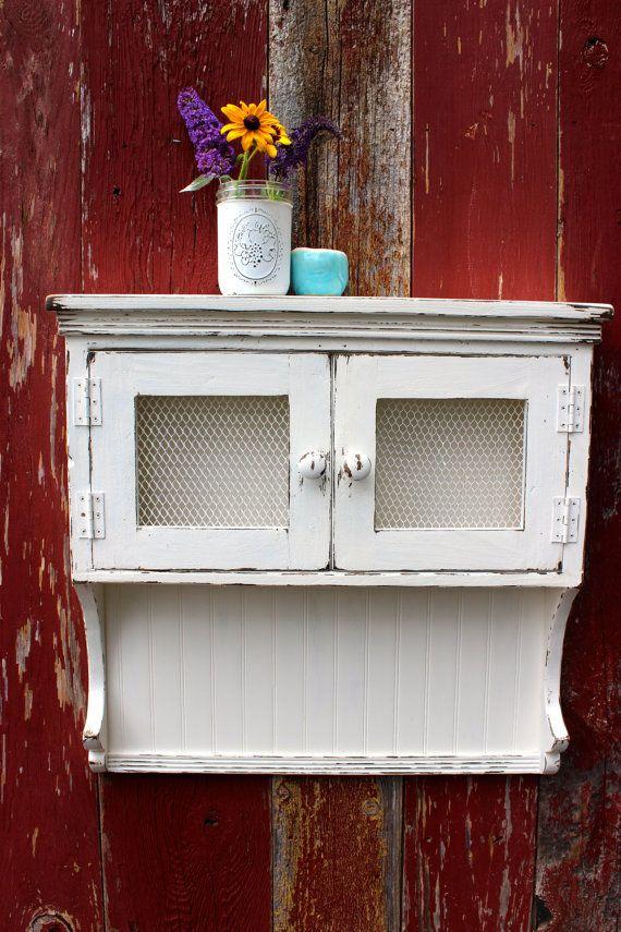 Primitivi Barn medicina Jelly Cabinet ripiano in di Junkin2Jewels