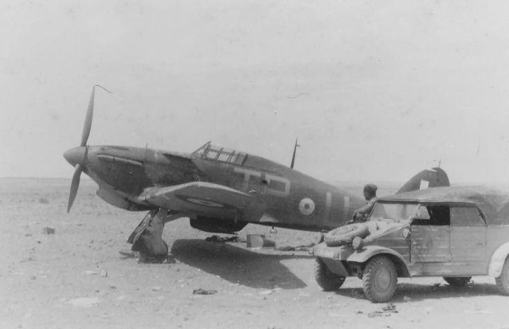 Hurricane code TP-U No 73 Squadron RAF and DAK Kubelwagen 1941