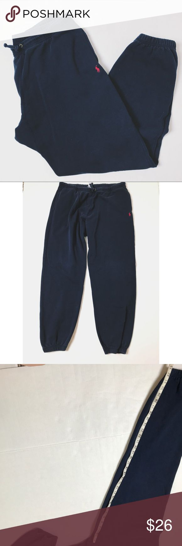 POLO Ralph Lauren Men's Sweatpants Navy Polo Sweatpants with red logo. Great condition! Polo by Ralph Lauren Pants Sweatpants & Joggers