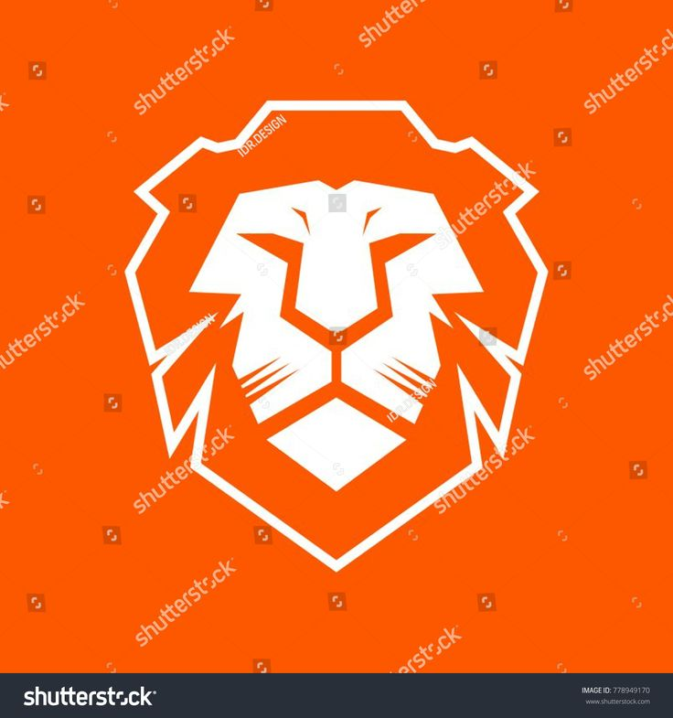 Lion Head Modern Logo Design