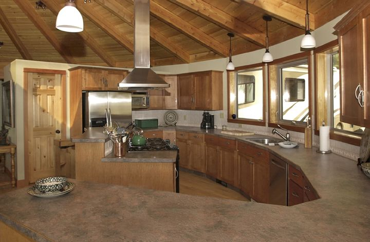 kitchen in a yurt home