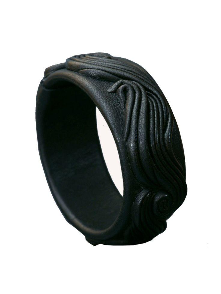 London Collection - Leather Swirl Bangle Bracelet - at - London Jewelers