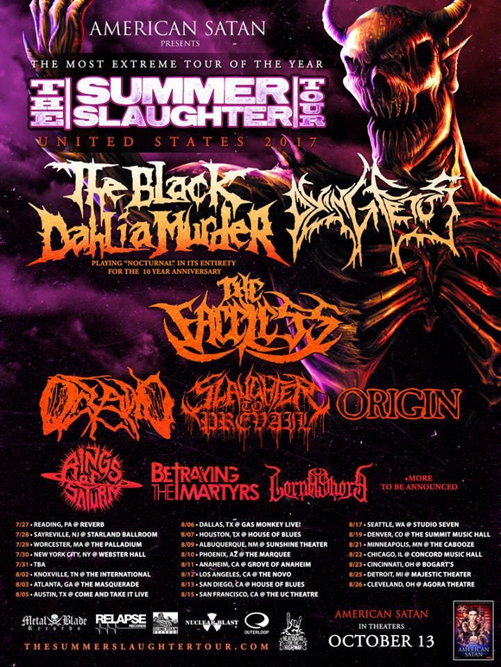 THE BLACK DAHLIA MURDER Will Co-Headline 'Summer Slaughter Tour' With Dying Fetus!