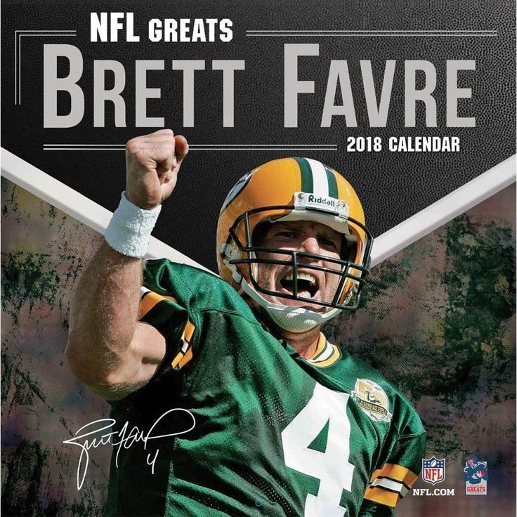 2018 NFL Brett Favre Collectors Wall Calendar,  Green Bay Packers by Turner Lice #TurnerLicensing
