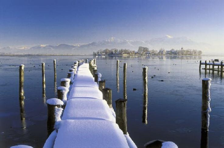 Lac Chiemsee Fraueninsel. Bavière