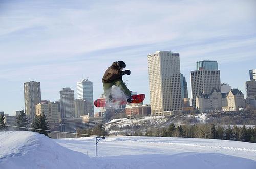 Snowboarders at #yeg Edmonton Ski Club
