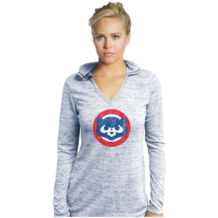 Chicago Cubs Long Sleeve Hooded Thermal T-Shirt  #ChicagoCubs #Cubs #FlyTheW #MLB #ThatsCub