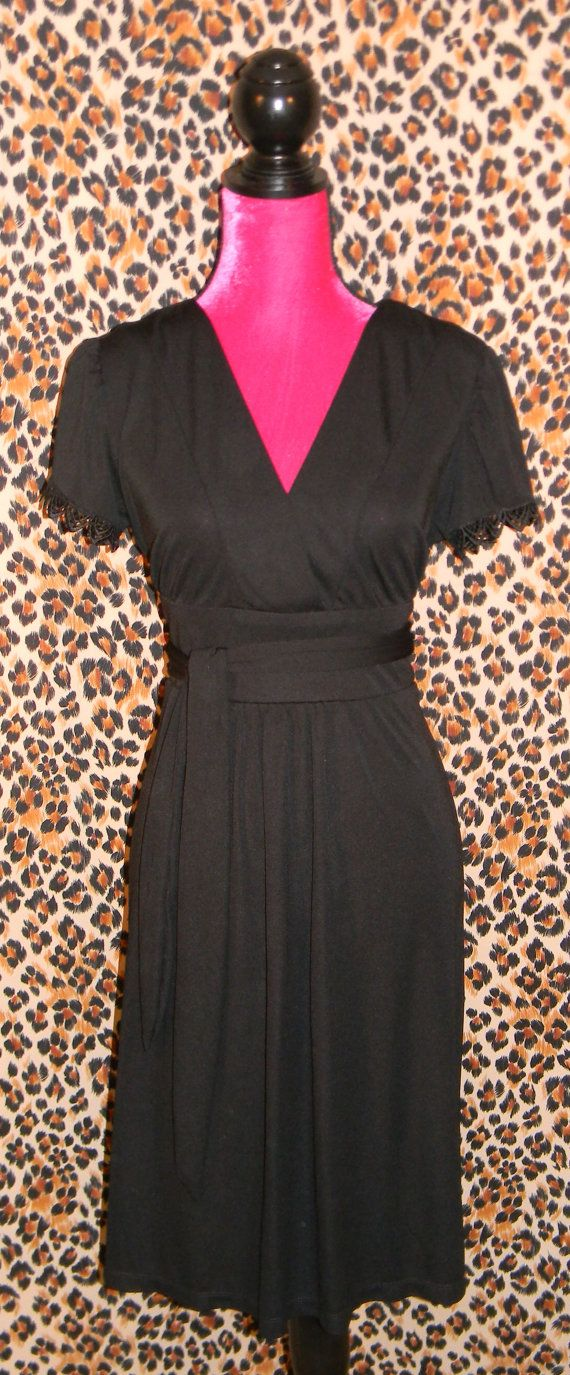 Little Black Wrap Dress by LittleBlackDesigns on Etsy