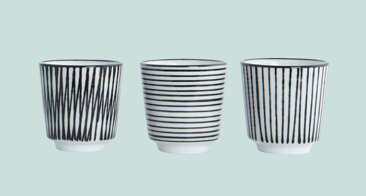 striped egg cups