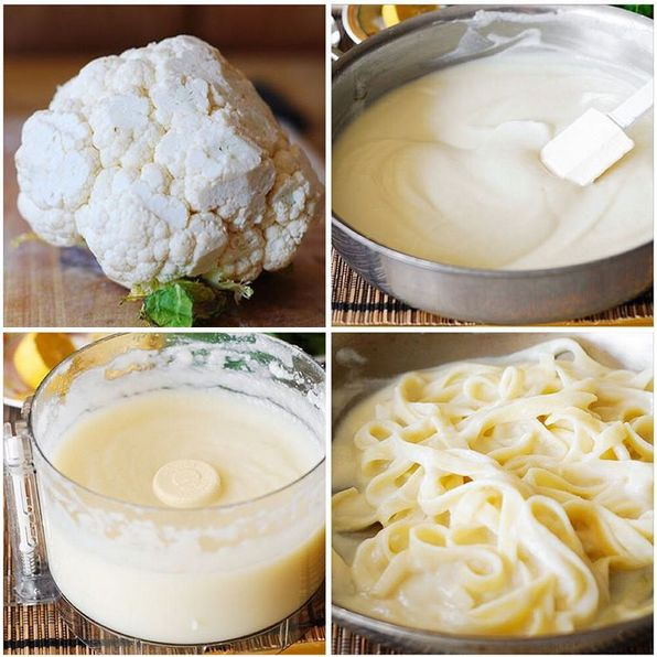 1 cauliflower head 1/2 cup hot cooking water 1/2 chicken bullion cube 1/2 cup Parmesan cheese 1/4 teaspoon salt salt and pepper, to taste nutmeg, to taste (optional) Clean the cauliflower head from green leaves, and chop it into reasonably large but manageable pieces. Place it in the big sauce…