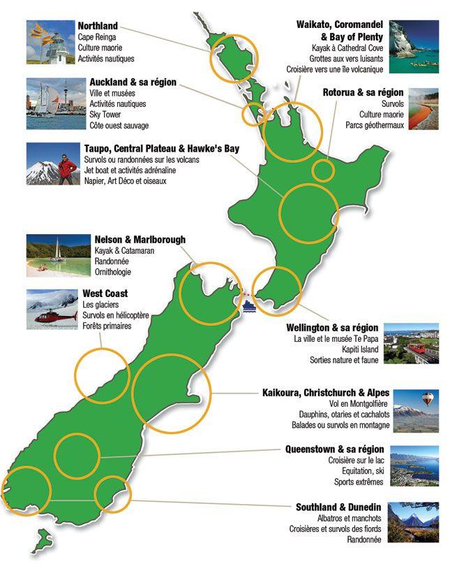 Carte Nouvelle-zelande