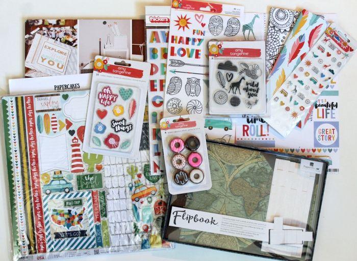 matériel scrapbooking, stickers autocollants en forme de coeur et plantes, embellissement scrapbooking en plusieurs couleurs