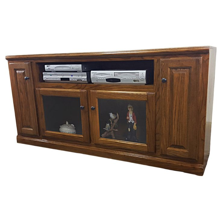 American Heartland 66 in. Oak TV Stand with Glass Door - Assorted Finishes - #46866LT