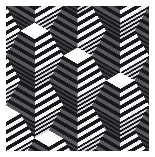 op art | Double Truncated Pyramids – Op Art by Robin Hunnam