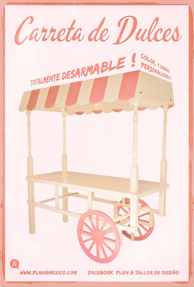Estilo Vintage Decoracion Boda ~   dulces vintage carreta mesa carreta de dulces mesa de postres vintage