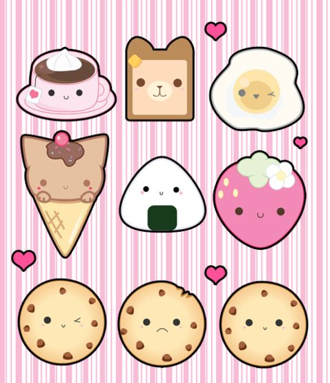 Kawaii food - love the ice cream kitty