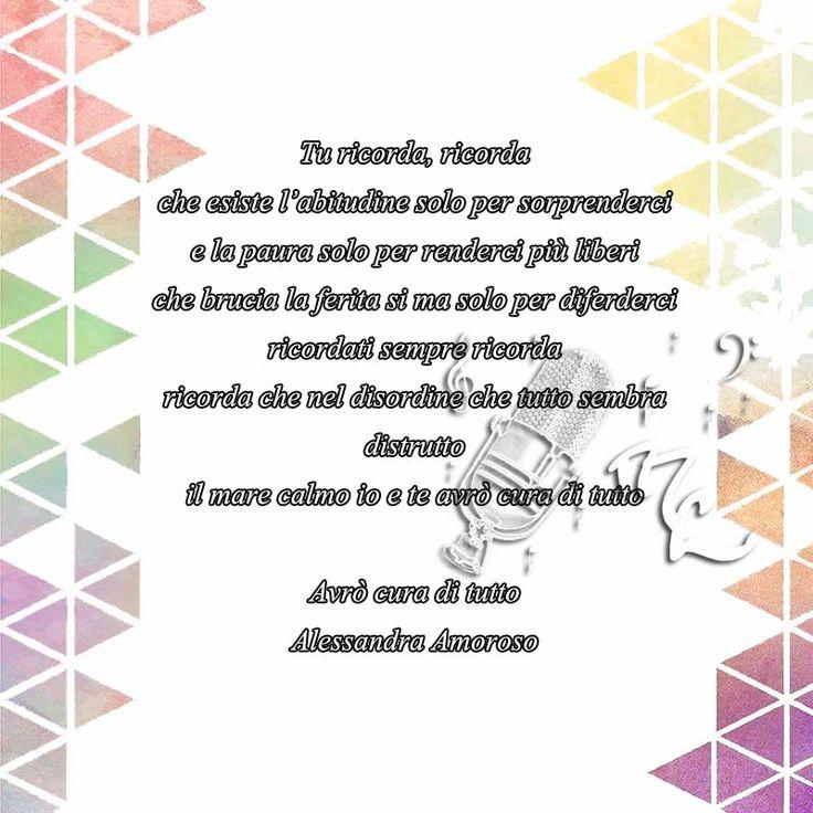 Avrò cura di tutto - Alessandra Amoroso https://www.facebook.com/musicorner/