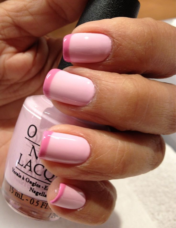 manicure -                                                      Pink on Pink French Manicure