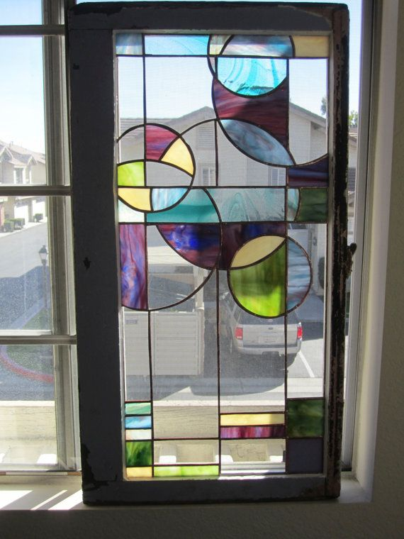 Stained Glass Untitled Panel 3 NFS Sample Only por Ironglassworks, $180.00