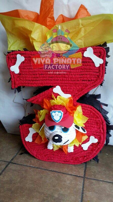 A qui otra de nuestras famosas piñatas de numero con tema... Piñata 3 Paw Patrol
