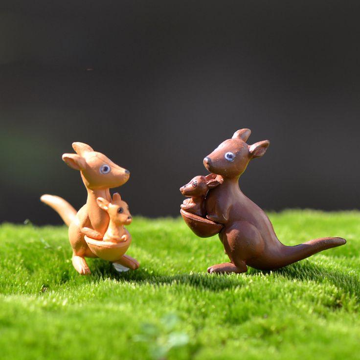 1Pcs Cute kangaroo DIY Resin Fairy Garden Craft Decoration Miniature Micro Gnome Terrarium Gift F0038
