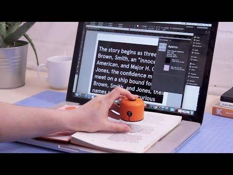 This Handheld Scanner identifies Fonts and Colors