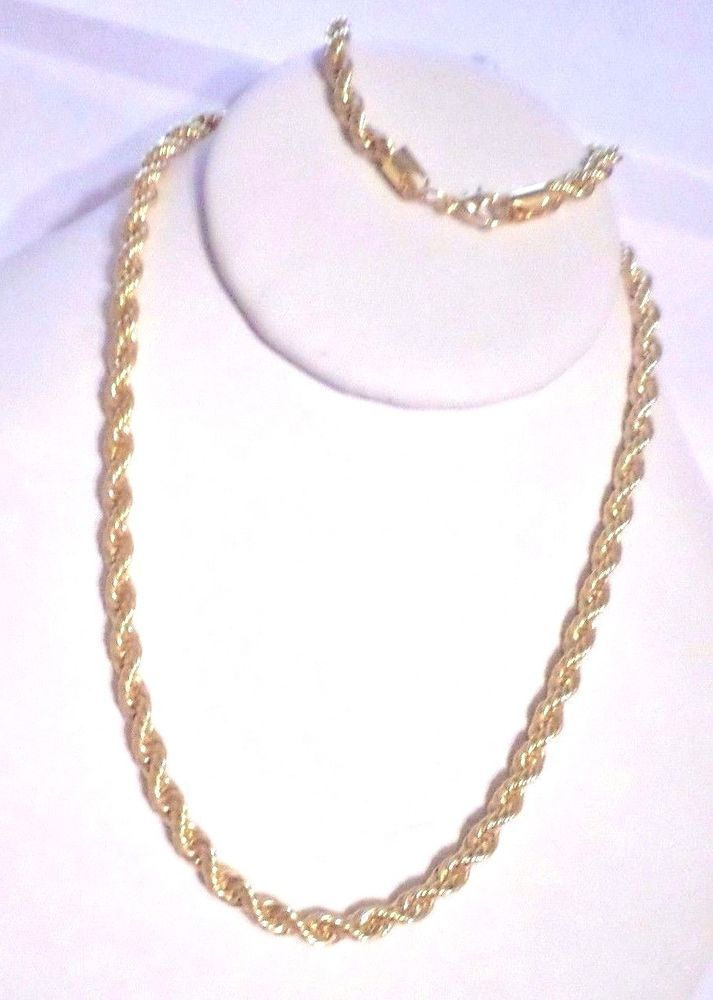 mens/womens 6mm-24 inch rope chain necklace 14k gold plated  #Unbranded #Chain #gold14knecklace