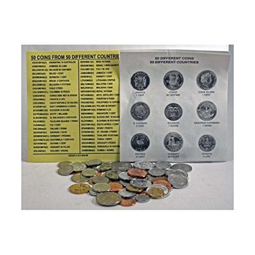 50 DIFFERENT UNCIRCULATED COINS FROM 50 DIFFERENT COUNTRIES, mint!world coin collection set. at Amazon's Collectible Coins Store