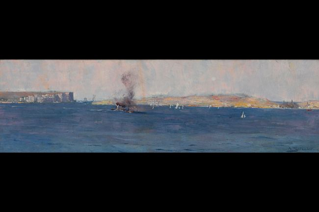 THEN Sydney Harbour 1895 by Arthur Streeton
