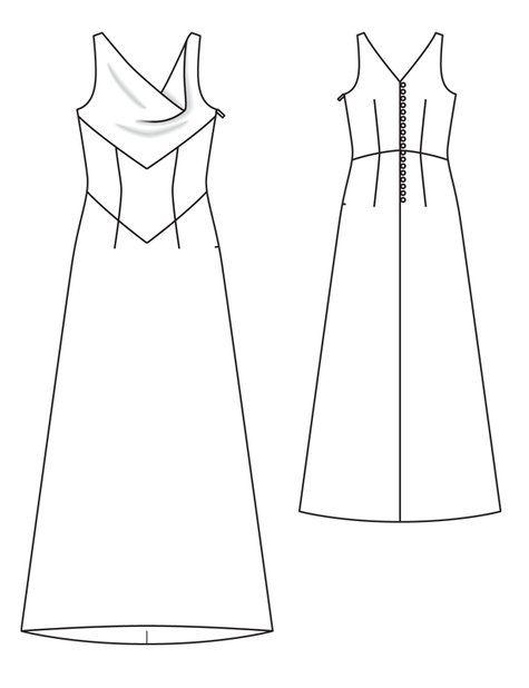 232 best rtw pattern images on pinterest pattern for Cowl neck wedding dress pattern