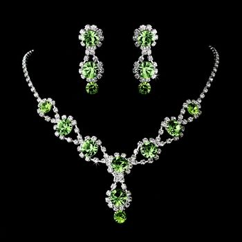 Peridot Green Bridesmaid Jewelry  - lots of sparkle! specialoccasionsforless.com