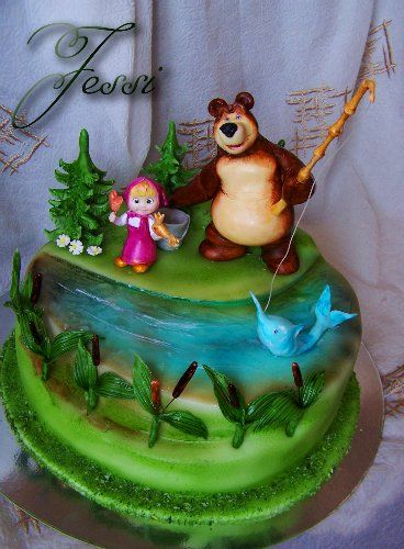 торт маша и медведь зима - Поиск в Google