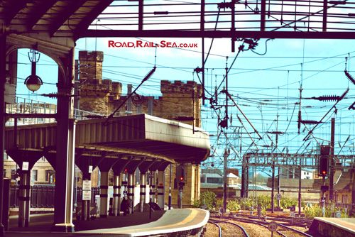 A view from the platform at Newcastle railway station. Travel to Newcastle in just 3 hours by train or stay overnight before catching the ferry to Amsterdam with DFDS.