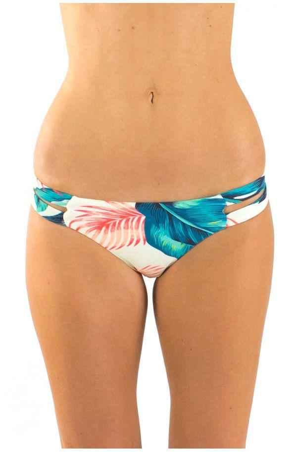 Maillot de bain tanga liens côtés imprimé Tropical Surf Capsule