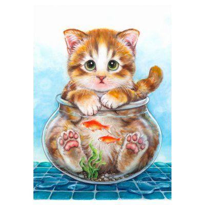 Toland Home Garden Cat Trap Flag - 1110804