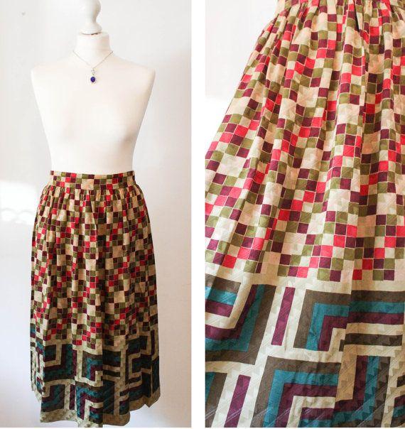 Italian Vintage Designer Silk Skirt by BelmondoVintage on Etsy, €55.00